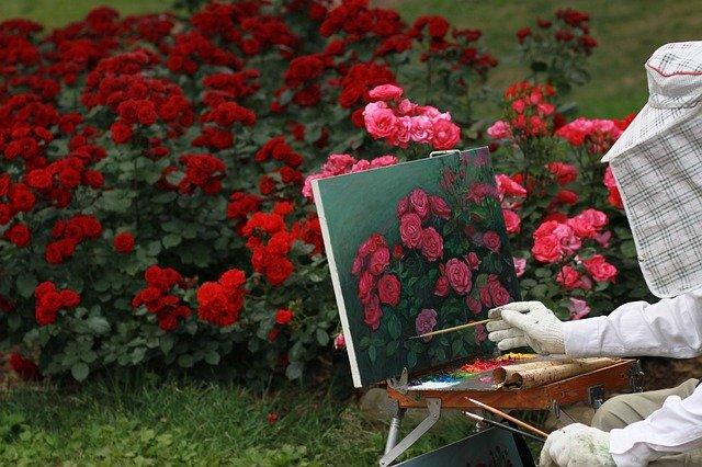 obraz w ogrodzie